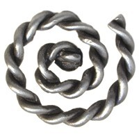 Emenee OR325ABS, Knob, Rope Swirl, Antique Bright Silver