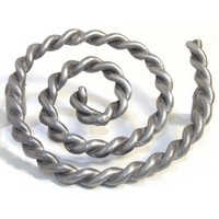 Emenee OR326ABS, Pull, Rope Swirl, Antique Bright Silver