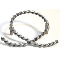Emenee OR327ABS, Pull, Rope Open, Antique Bright Silver