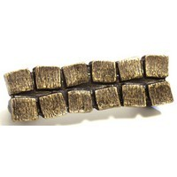 Emenee OR340ABS, Handle, 2 Row Block, Antique Bright Silver