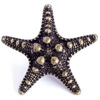 Emenee OR421ABS, Knob, Sea Star, Antique Bright Silver