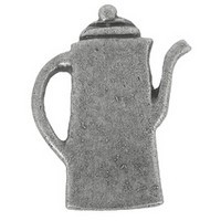 Emenee PFR115ABS, Knob, Coffee Pot, Antique Bright Silver