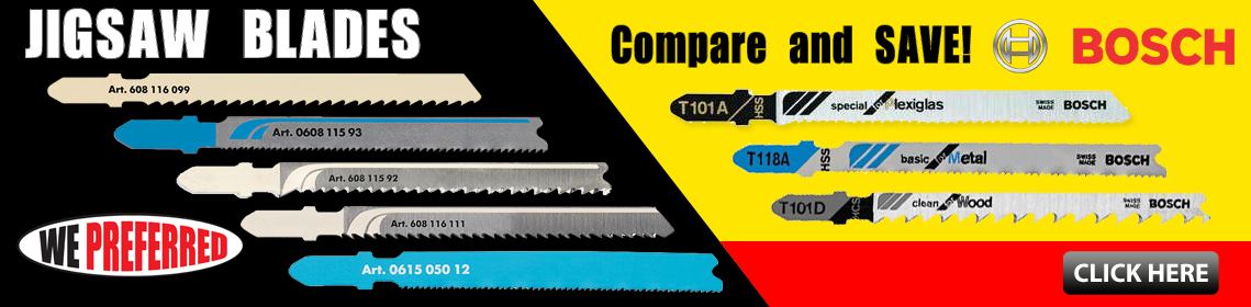 Save on WE Preferred Jigsaw Blades... comparable to Bosch Blades!