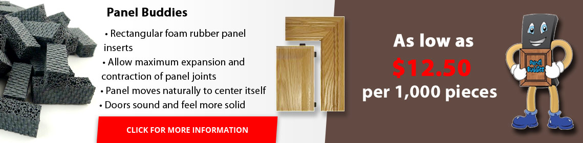 Rectangular foam panel inserts allow maximum expansion and contraction of panel joints