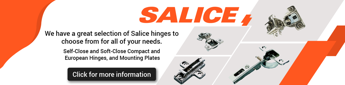 Image ad for Salice Self-Close and Soft-Close Compact and European Long-arm hinges