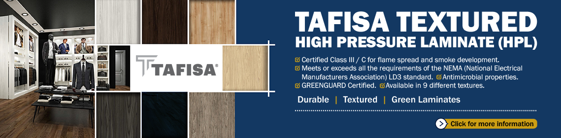 Select from 72 different Tafisa Laminates at Woodworker Express