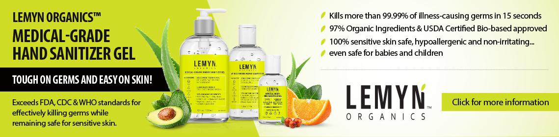 Click for New Lemyn Organics Medical Grade Hand Sanitizer Gel
