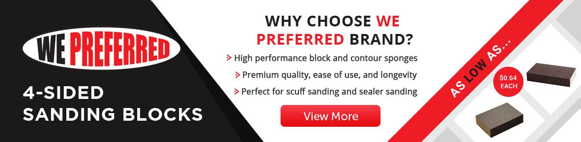 WE Preferred 4-Sided Sanding Blocks