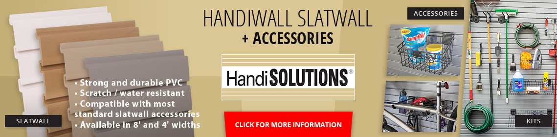 HandiSOLUTIONS Slatwall Organization System