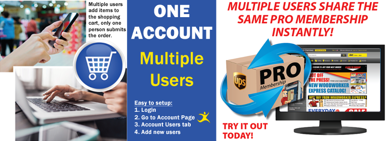 New Feature: One Account, Multiple Users.... One Shopping Cart