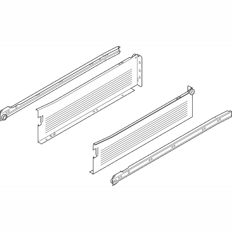 "Blum 320K4000C15, 16"" METABOX 320K Slide,4-5/8"" Height, 3/4 Extension, Soft-Close :: Image 10"