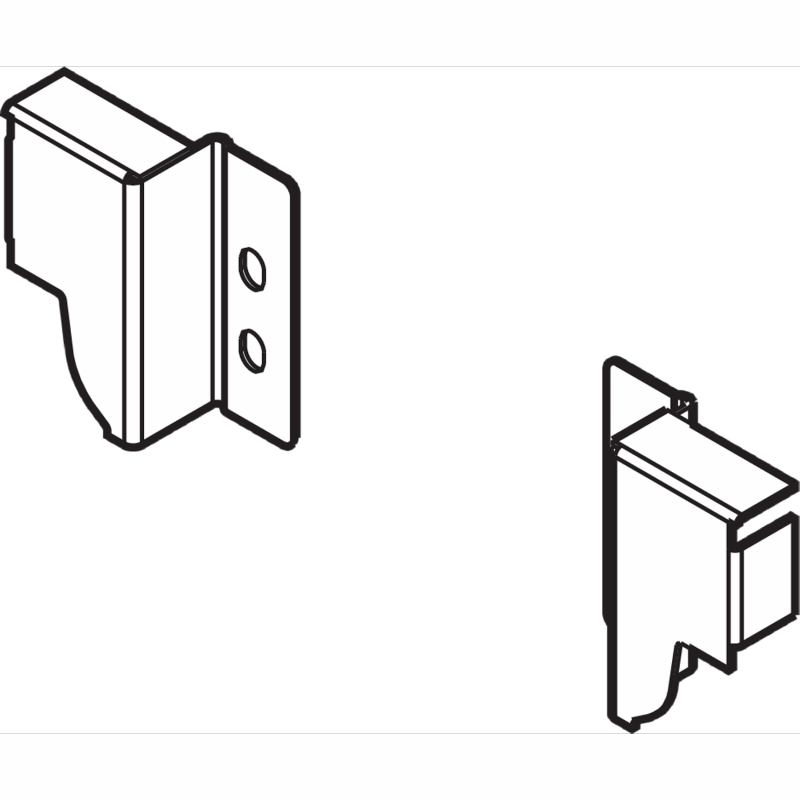 Blum Z30N000S04-WHA, Rear Fixing Bracket, Left and Right, White Aluminum, Gray :: Image 10