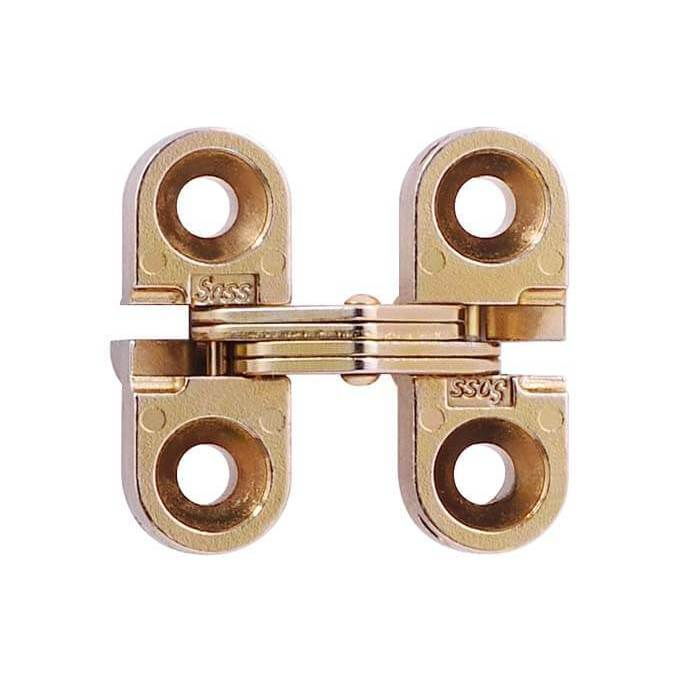 "SOSS #100, 1"" Mini Invisible Hinge, Dull Brass, 100CUS4 :: Image 10"