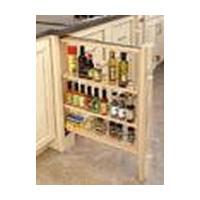 Rev-A-Shelf 432-BF-6C, 6in Base Cabinet Filler with Adjustable Wood Shelves :: Image 20