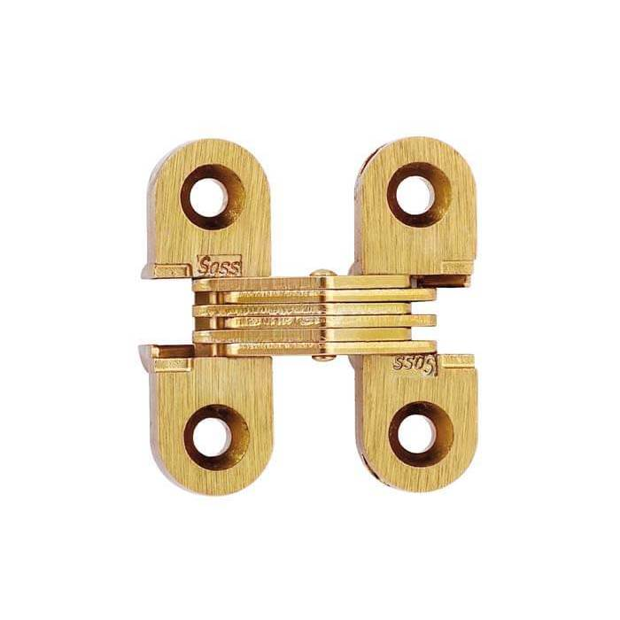 """SOSS #103, 1-1/2"""" Invisible Hinge, Dull Brass, 103CUS4 :: Image 10"""