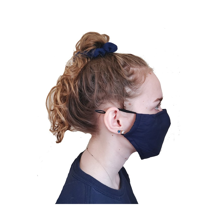 3 Layer Black Cotton Face Mask w/ Filter Pocket WE Preferred 9A-CLOTH
