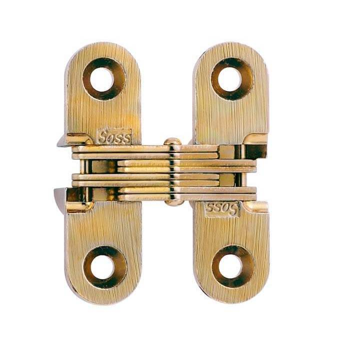 "SOSS #303, 1-1/2"" Invisible Hinge, Dull Brass, 303CUS4 :: Image 10"