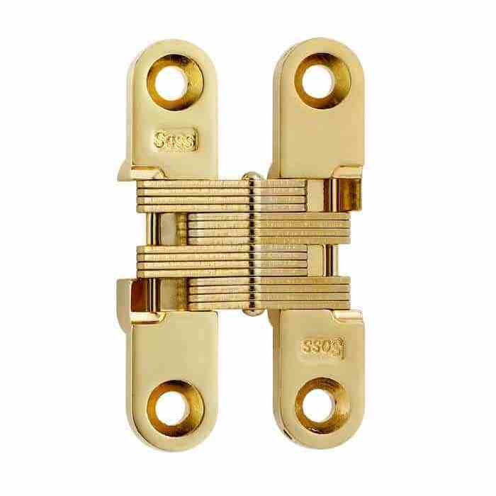 """SOSS #204, 2-3/8"""" Invisible Hinge, Bright Brass, 204CUS3 :: Image 10"""