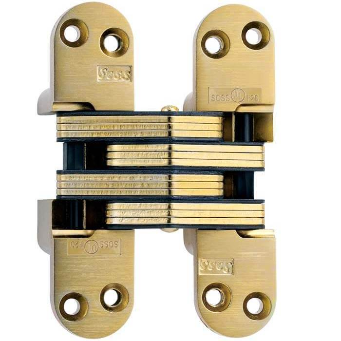 "SOSS #218, 4-5/8"" Invisible Hinge, Dull Brass, 218US4 :: Image 10"