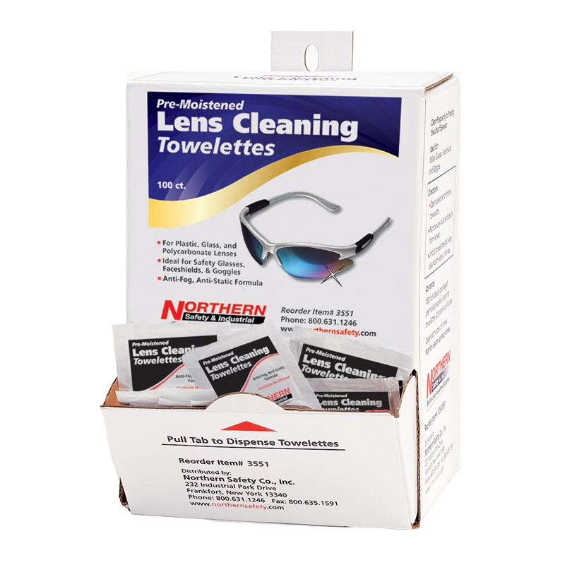 Cleaning Wipes for Glasses, Anti-Fog, Northern Safety 3551,  Dispenser Box of 100 :: Image 10