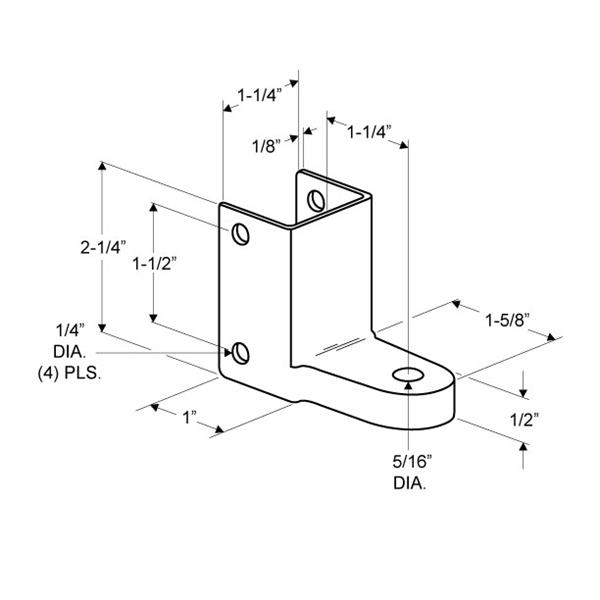 Jacknob 3293, Toilet Door Stainless Steel 110-Degree Mortise Bottom Hinge for 7/8 - 1in Thick Doors, In-Swing & Out-Swing :: Image 20