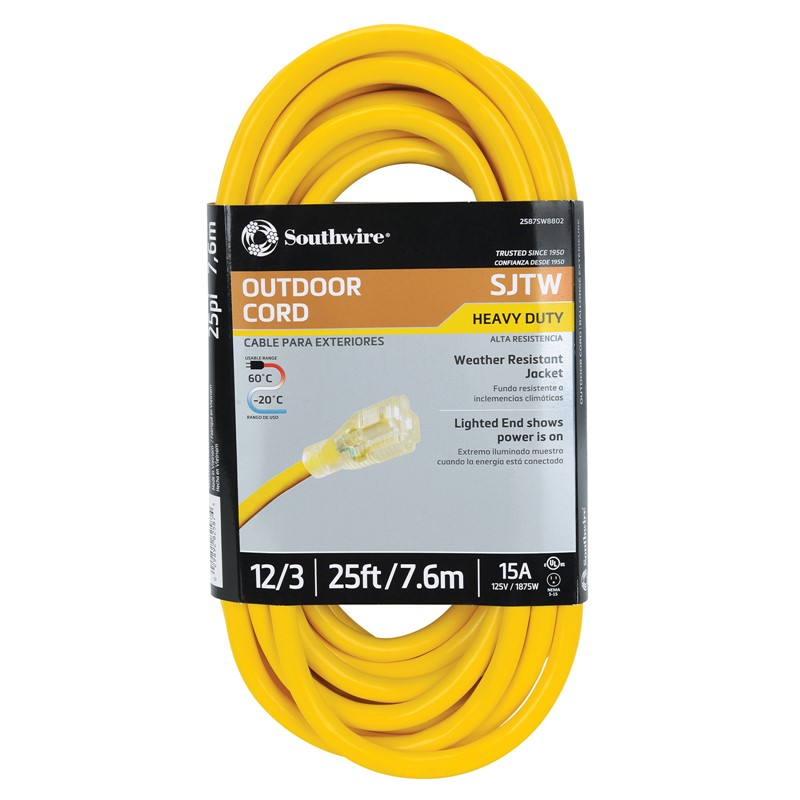 Northern Safety 29346 25' Extension Cord, Outdoor, 12/3 Gauge :: Image # 10