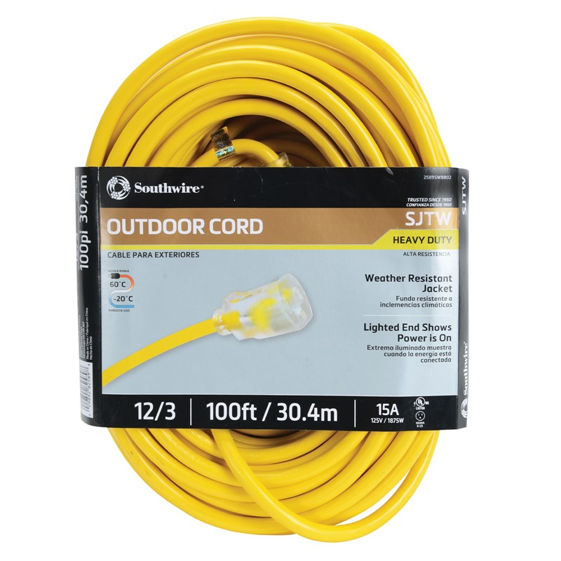 Northern Safety 29348 100' Extension Cord, Outdoor, 12/3 Gauge :: Image # 10