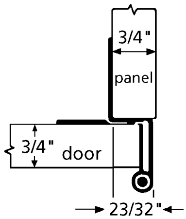 WE Preferred P374-26D 5-Knuckle Hinge for 3/4 Doors, Dull Chrome :: Image 10