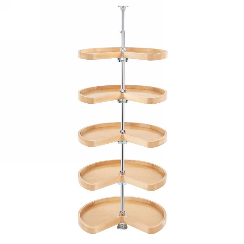 Rev-A-Shelf 4465-24-50, 24in Pantry Cabinet, Kidney Shaped Wood Lazy Susan 5 Shelf Set, No Posts :: Image 10