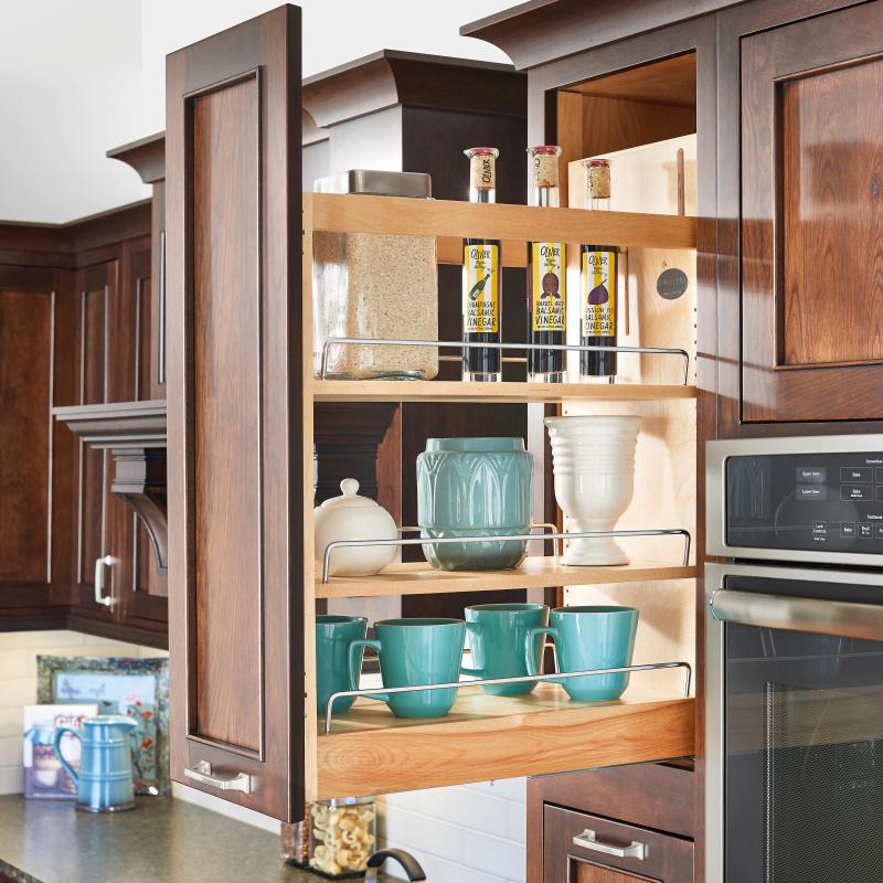 Rev-A-Shelf 448-BCSC-8C, 8in Base Cabinet Organizer with Blum Soft Close Slides :: Image 40