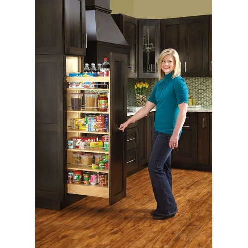 Rev A Shelf 448 Tp58 5 1 Tall Pantry W Slide 5inw X 58in H