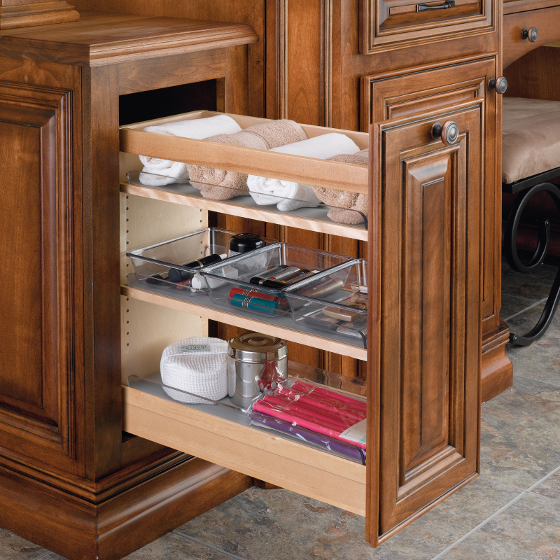Rev-A-Shelf 448-VC20SC-8 Vanity Base Cabinet Organizer Pull-Out & 6 Polycarbonate Bins :: Image 20