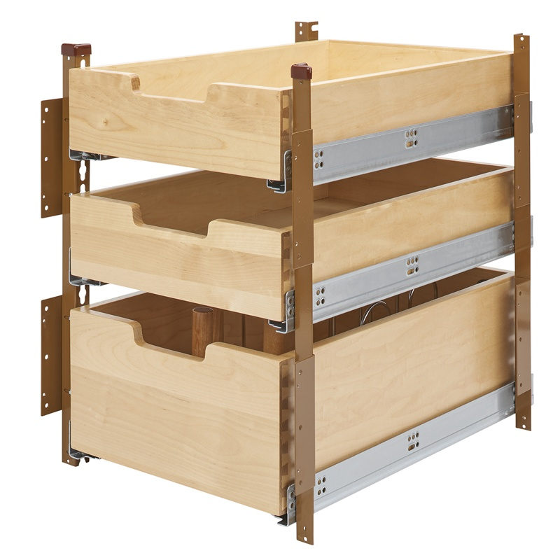 "Kitchen Cabinet Drawer Kits: Rev-A-Shelf 4PIL-18SC-3, 16-5/16""W Base Cabinet Pilaster 3"