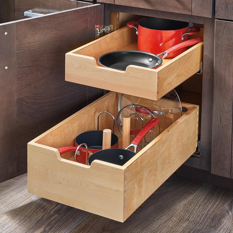 "Rev-A-Shelf 4PIL-18SC-2, 16-5/16""W Base Cabinet Pilaster 2-Drawer Kit, Brown :: Image 20"