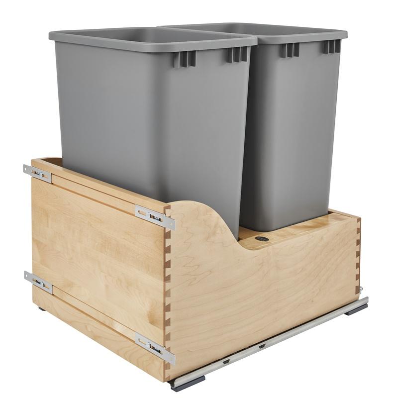 Rev-A-Shelf 4WCSD-2150DM-2 Servo Double 50 Qt. Pullout Waste Container :: Image 10