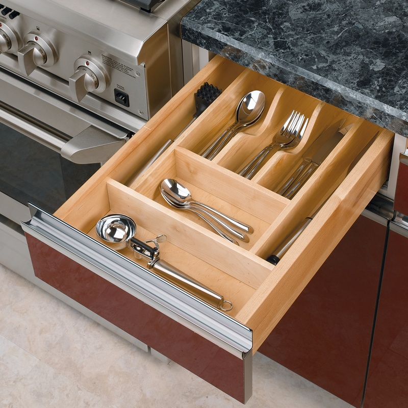 "14-5/8"" Cutlery Drawer Insert, Wood, Maple, Rev-a-shelf  4WCT-1 :: Image 10"