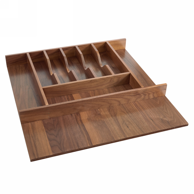 Rev A Shelf 4wct Wn 3sh Walnut Wood Cutlery Tray Insert 21 1 8 Wide
