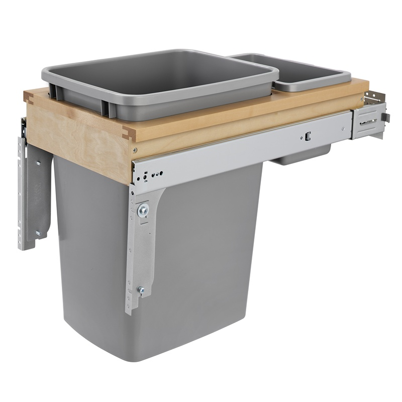 Rev-A-Shelf 4WCTM-12BBSCDM1 35 Qt. Top Mount Waste Container :: Image 10