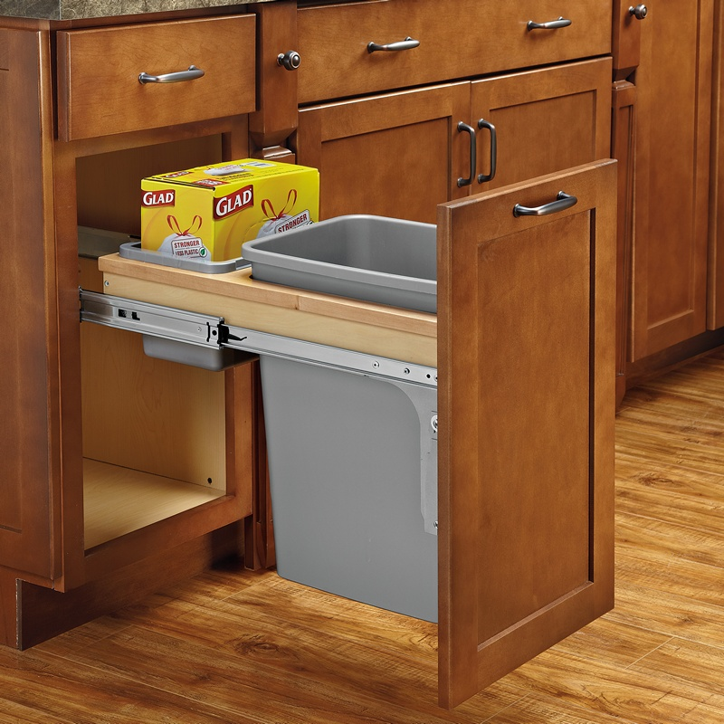 Rev-A-Shelf 4WCTM-12BBSCDM1 35 Qt. Top Mount Waste Container :: Image 20