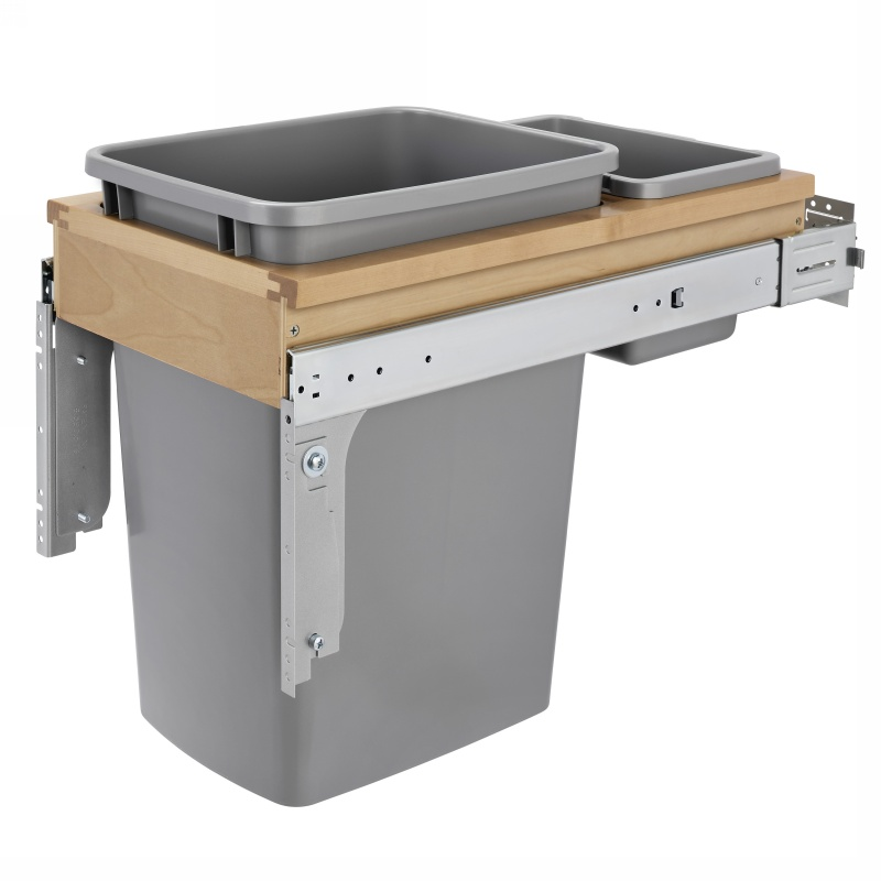 Rev-A-Shelf 4WCTM-12INDM-1 35 Qt. Top Mount Waste Container for Inset :: Image 10