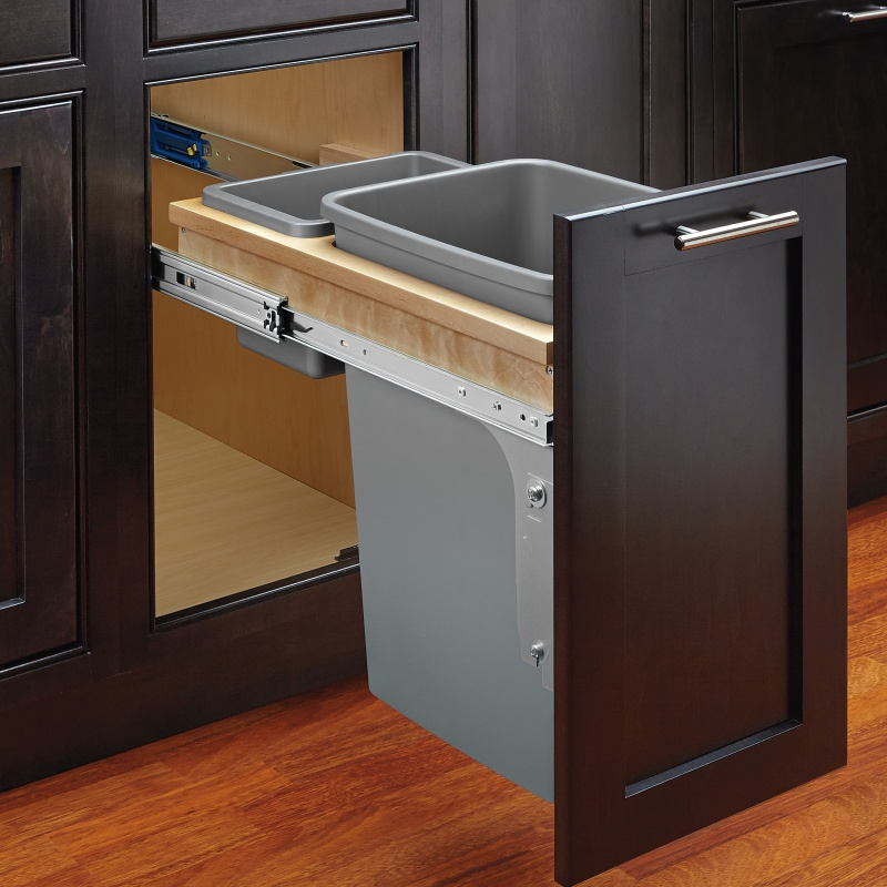 Rev-A-Shelf 4WCTM-12INDM-1 35 Qt. Top Mount Waste Container for Inset :: Image 20