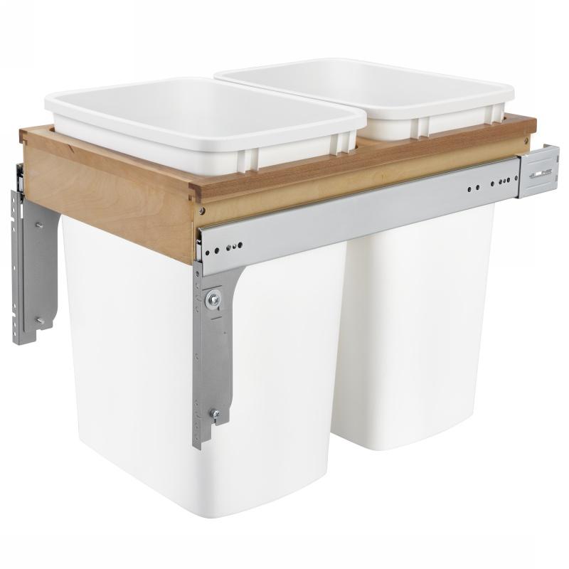 Rev-A-Shelf 4WCTM-18DM2-162 Double 35 Qt. Top Mount Waste Container :: Image 10