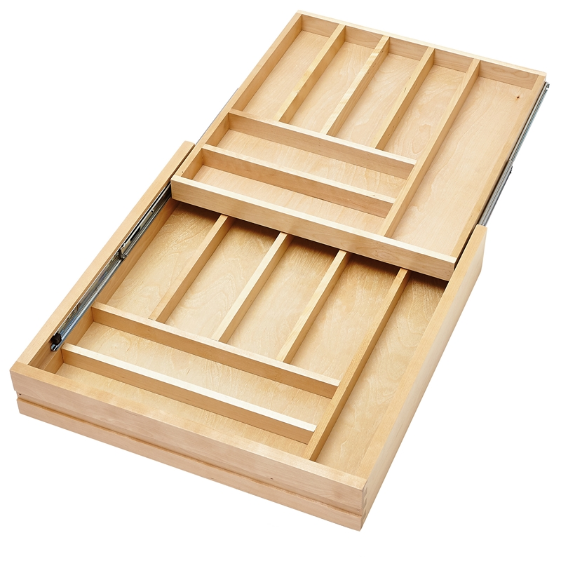 """24"""" Face Frame 2-Tiered Cutlery Drawer with BLUMOTION :: Image 10"""