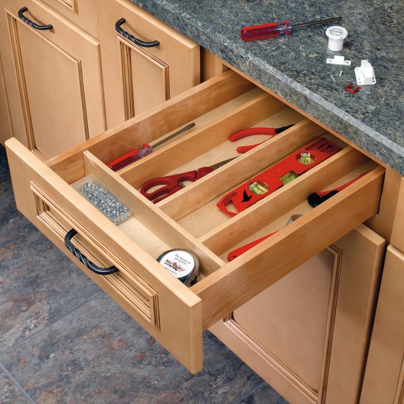 """18-1/2"""" Utensil Drawer Insert, Wood, Wood, Rev-a-shelf  4WUT-1SH :: Image 20"""