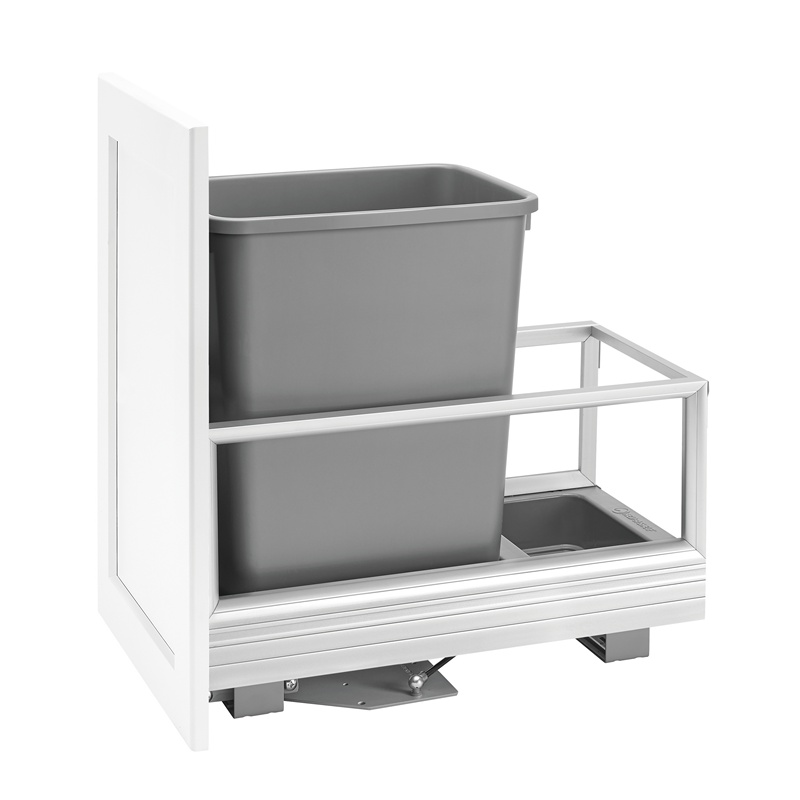Rev-A-Shelf 5149-15DM-117, 35 Qt., Bottom Mount Trash Pull-Out, Rev-A-Motion, Silver :: Image 10