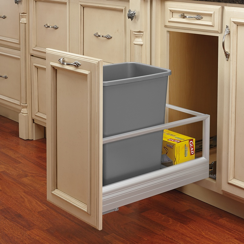 Rev-A-Shelf 5149-15DM-117, 35 Qt., Bottom Mount Trash Pull-Out, Rev-A-Motion, Silver :: Image 20