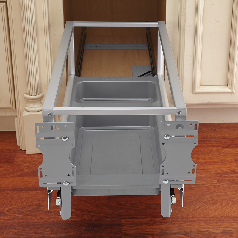 Rev-A-Shelf 5149-15DM-117, 35 Qt., Bottom Mount Trash Pull-Out, Rev-A-Motion, Silver :: Image 30