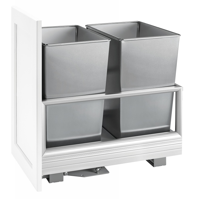 Rev-A-Shelf 5149-18DM-2SS Double 32 Qt. Pullout Waste Container, Silver :: Image 20