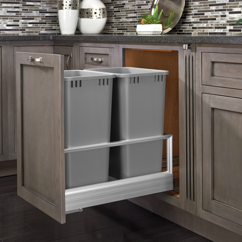 Rev-A-Shelf 5149-2150DM-217 Double Trash Pull-Out 50 Qt., Bottom Mount, Rev-A-Motion :: Image 20