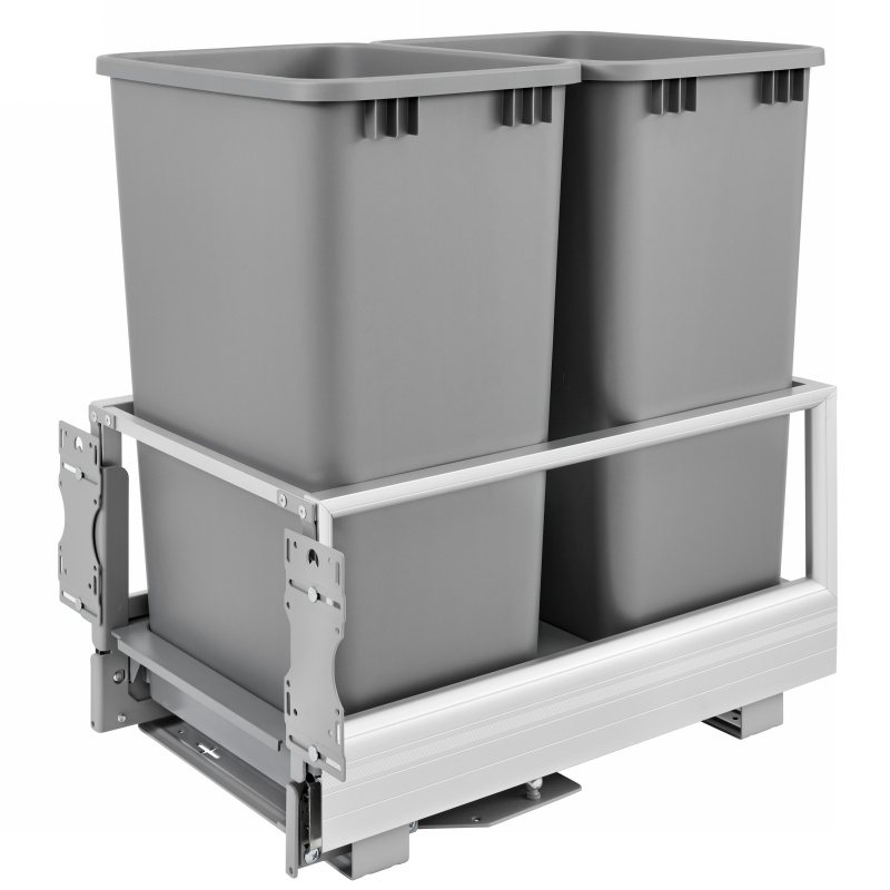 Rev-A-Shelf 5149-2150DM-217 Double Trash Pull-Out 50 Qt., Bottom Mount, Rev-A-Motion :: Image 10